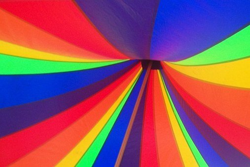 Rainbow, Tent, Canopy, Carnival, Circus, Circus Tent