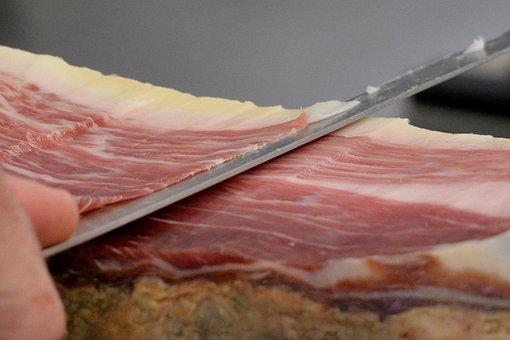 Ham, Cutting, Meat, Pata Negra, Charcuterie, Meats