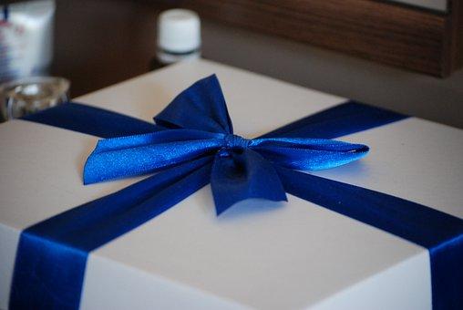 Cockapoo, Bow, Gift, Box, Ornaments