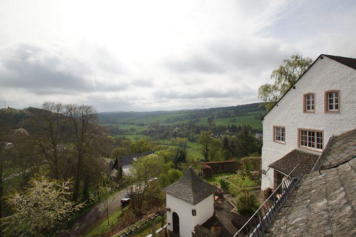 Eifel View, Kronenburg, Castle Wall, Landscape, Nature