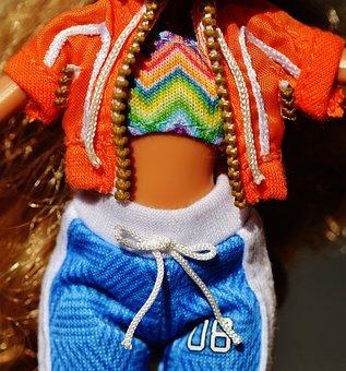 Doll, Clothing, Sweatpants, Jacket, Toys, Girls Toys