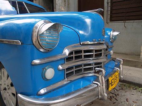 Cuba, Havana, Auto, Veteran, Dodge, Halogen, History