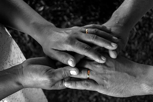 Marriage, Alliance, Love, Hands, Male, Female, Weding