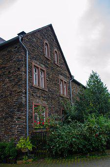 Old Town, Mosel, Stone House, Home, Housewife, Facade
