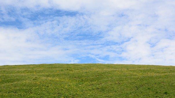 Horizon, Meadow, Sky, Nature, Blue, Landscape, Wide
