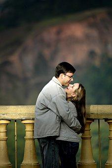 Casal, Love, Romantic, Hug, Smile