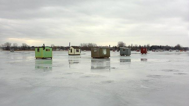 Ice Fishing Huts, Ice Fishing, Lake, Fish, Ice, Fishing