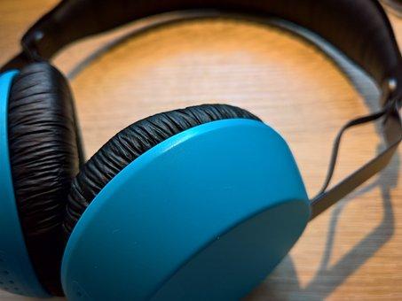 Headset, Headphones, Music, Blue