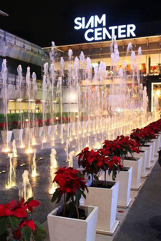 Fountain, Siam Center, Night Shot, Event, Xmas, Light
