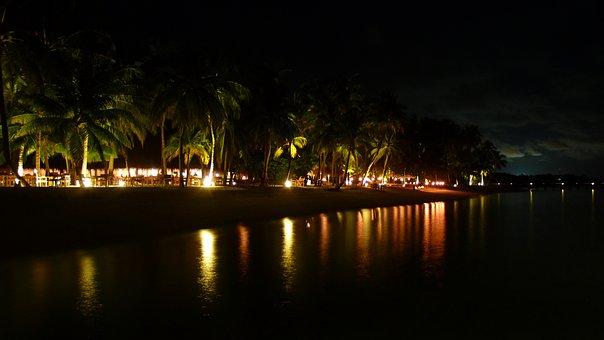 Night Shot, Beach, Island Paradise, Lankanfushi