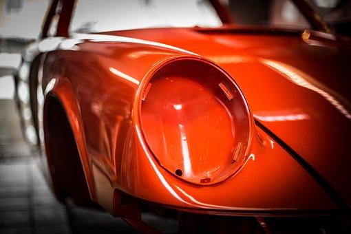Porsche 911, Biw, Spotlight, Paint, Gloss, Reflections