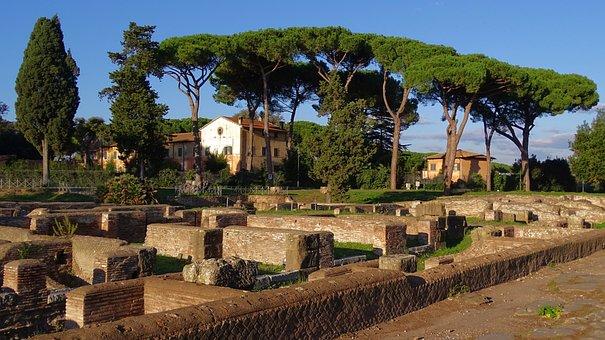Italy, Ostia, Antica, Ruins, Archaeological Site