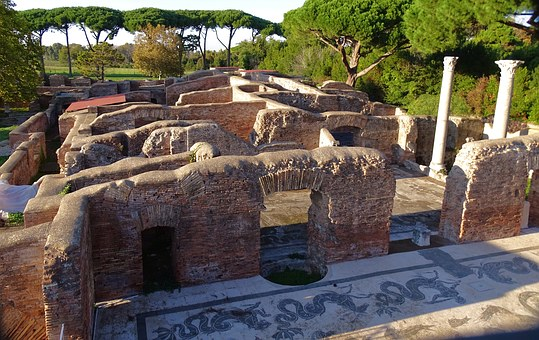 Italy, Ostia, Antica, Ruins, Archaeological Site