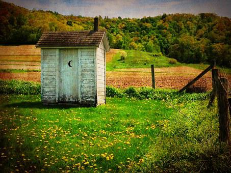 Outhouse, Old, Country, Rustic, Rural, Wooden, Door