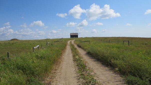 Prairie, Shed, Rural, Old, Landscape, Building, Nature