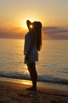 Crimea, Beach, Sunset, Travel, Russia, Dress, Sea