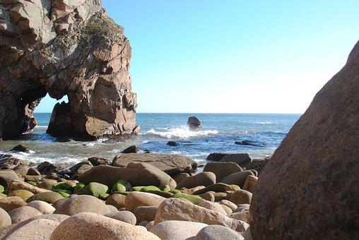 Cabo De Rocca, Rock, Sea, Vacations, Sun, Surf, Stones