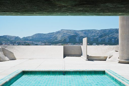 Swimming Pool, Architecture, Corbusier, Pool, Building
