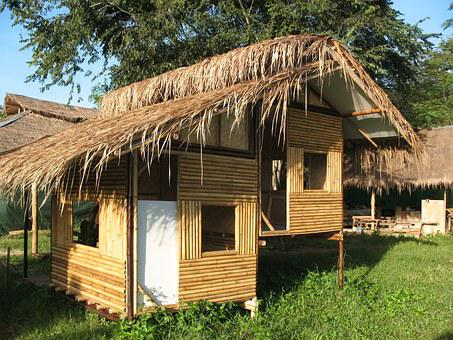 Hut, Bamboo, Home, Shed, Shack, Thailand, Traditional
