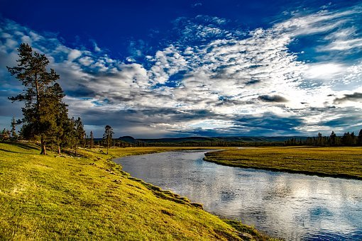 Yellowstone, National Park, Wyoming, Firehole River