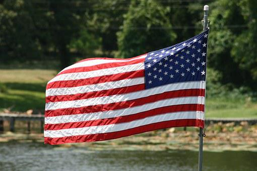 America, Flag, American Flag, July, 4th, Independence