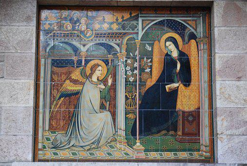 Italy, Assisi, Virgin Mary, Annunciation, Angel