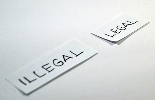 Legal, Illegal, Choose, Choice, Antonym, Opposite, Icon