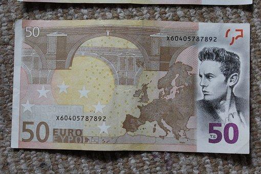 James Dean, Dollar Bill, Drawing, Art, Artwork, Unique