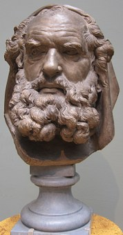 Bust, Head, Bearded, Elder, Augustin, Pajou, Terracotta