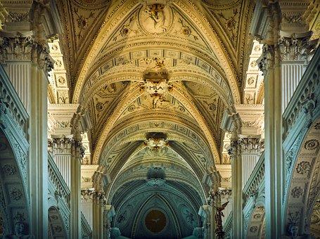 Architecture, Church, Vault, Building, Baroque
