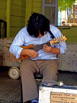 Musician, Guitar, Folk, Instrument, Person, Man, Beggar