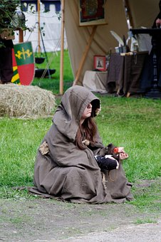 Medieval Market, Beggars, Sit, Middle Ages, Person