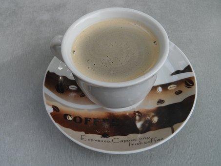 Coffee Cup, Cup, Saucer, Ceramic, Coffee, Break