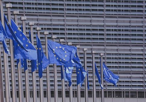 Blue, Building, Pattern, Freedom, Stars, Flag, Europe