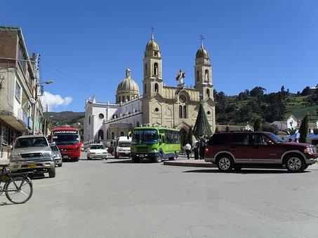 Aquitania, Boyaca, Colombia, Central Park, Church
