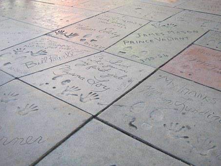 Chinese Theatre, Footprints, Celebrity, Concrete, Feet