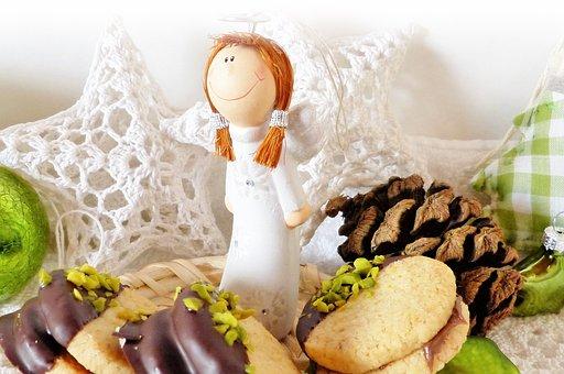 Christmas Angel, Cookie, Christmas, Advent, Green