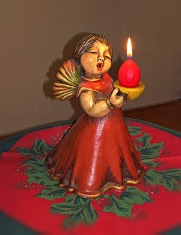 Christmas Angel, Ceramic Figures, From Bolzano, Italy