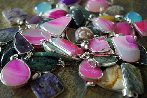 Jewelry, Colorful, Gemstone, Pendants, Gem, Stone, Lot