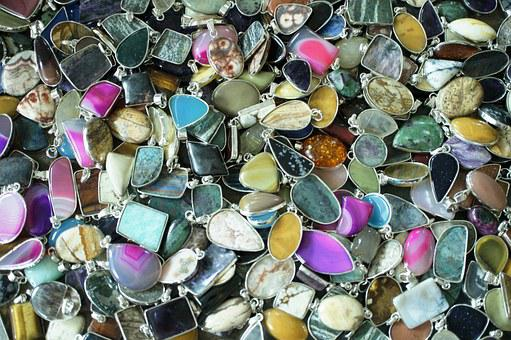 Colorful, Gemstone, Pendants, Gem, Stone, Jewelry, Lot