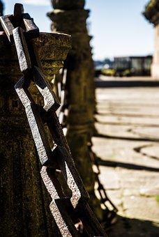 Chain, Spain, Saint James Compostela, Columns, Street