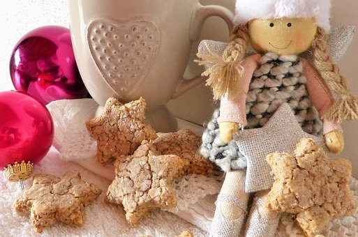 Angel, Christmas, Advent, Cookie, Bake, Cinnamon Stars