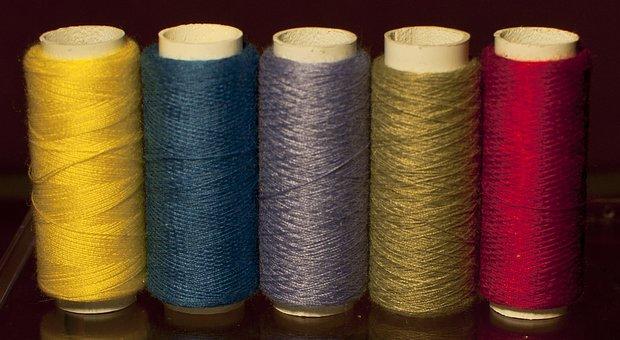 Thread, Colors, Cotton, Fiber, Textile, Yarn