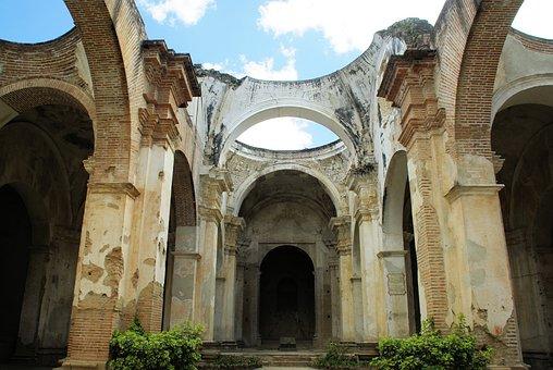 Guatemala, Antigua, Cathedral, Destruction, Earthquake