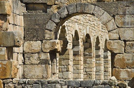 Volubilis, Morocco, Antiquity, Excavations, Basilica