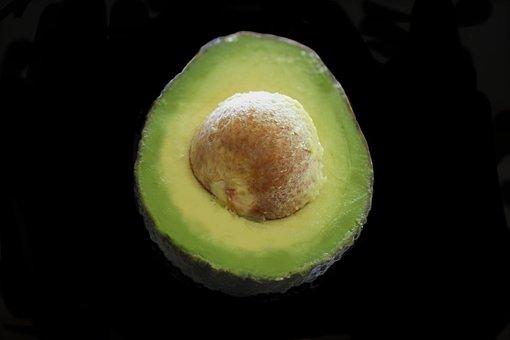 Avocado, Fruit, Green, Isolated, Food, Organic