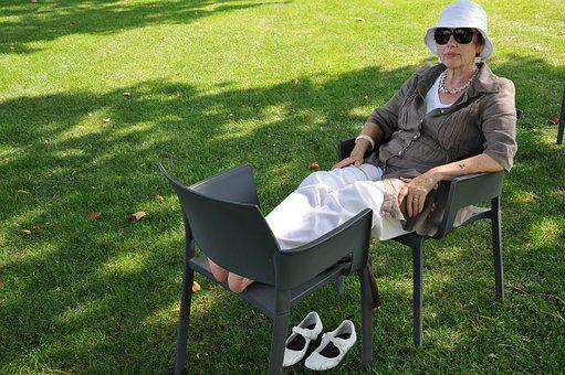 Garden Show, Summer, Koblenz, Woman, Senior, Dormant
