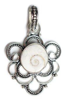 Shiva Shell, Stone, Pendant, Gemstones, Gems, Handmade