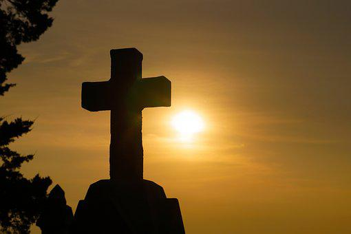Cross, Sunset, Silhouette, God, Religion, Christianity