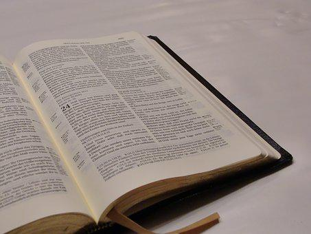 Bible, Page, Believe, Word Of God, God's Words, Font